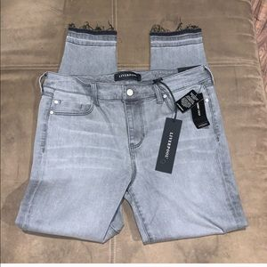 Gently Worn Gray Crop Jeans